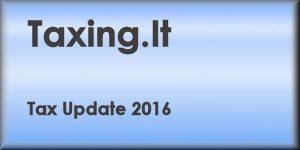 Tax Update 2016
